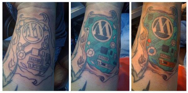 wordpress tattoo Вы любите Wordpress? Тогда сделайте татуировку!